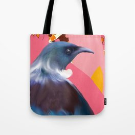 Tui with Retro floral wallpaper Tote Bag
