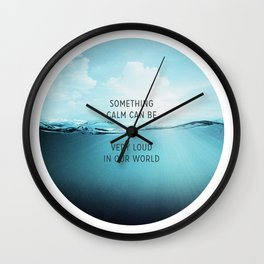 Something Calm Wall Clock