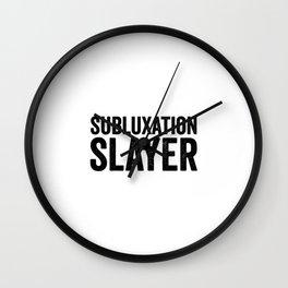 Subluxation Wall Clock
