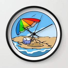 Summer Umbrella Wall Clock