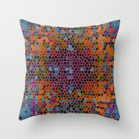 funky Throw Pillows featuring funky by mari3000
