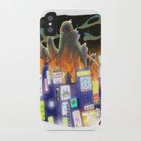 godzilla iPhone & iPod Cases featuring Godzilla by David Pavon