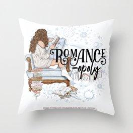 Romanceopoly 2020 Throw Pillow