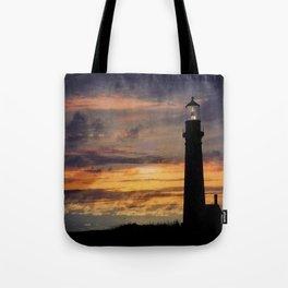Newport Oregon - Setting Sun Tote Bag