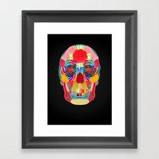 Sweet Sweet Sugar Skull On Black Framed Art Print