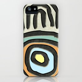 Tribal Maps - Magical Mazes #01 iPhone Case