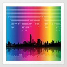 Urban Rhythm Art Print