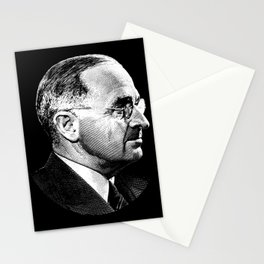 President Harry Truman Profile Portrait Stationery Cards