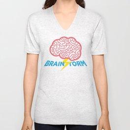 Brain Storm Unisex V-Neck