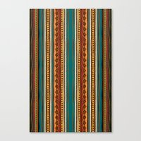 tribal Canvas Prints featuring Tribal by Klara Acel