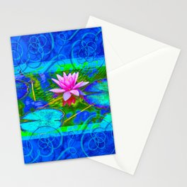 Lotus Blossom Blues Stationery Cards