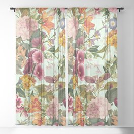 Summer Botanical Garden XVII Sheer Curtain