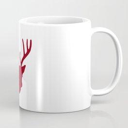 Deer Head: Red Coffee Mug