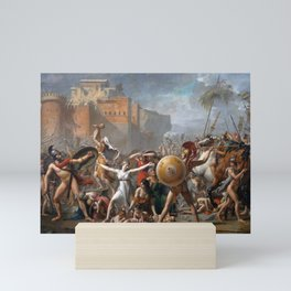 The Intervention of the Sabine Women by Jacques-Louis David, 1799 Mini Art Print