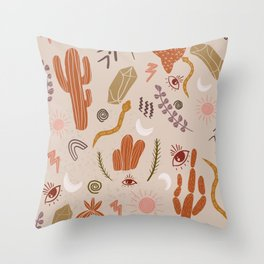 Terracotta Desert Throw Pillow