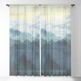 Mountain Range Sheer Curtain