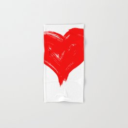 Red Heart painting Hand & Bath Towel