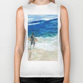 Lets surf Biker Tank