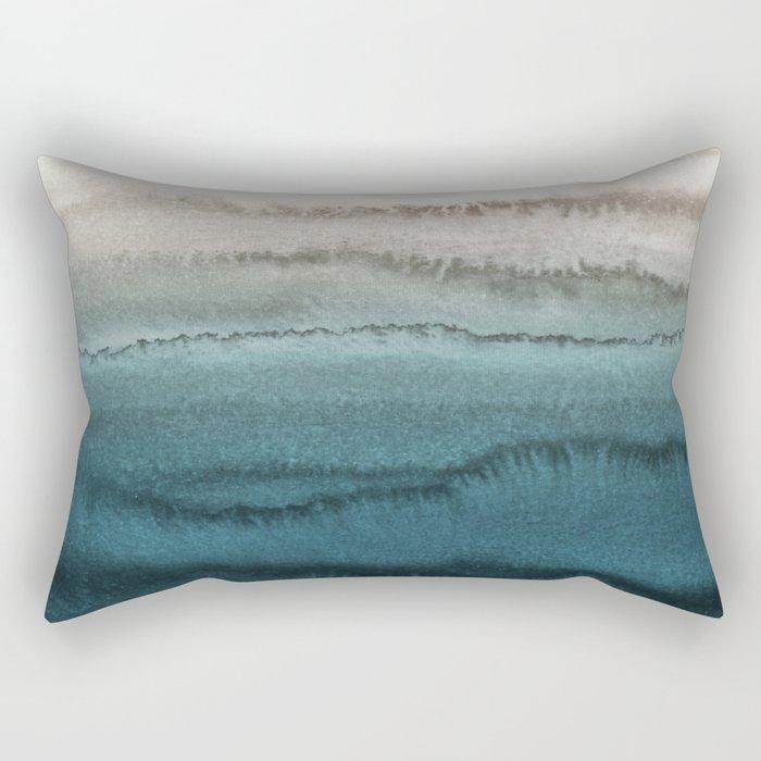 WITHIN THE TIDES - CRASHING WAVES TEAL Rectangular Pillow