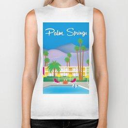 Palm Springs, California - Skyline Illustration by Loose Petals Biker Tank