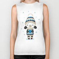 sheep Biker Tanks featuring Sheep by Freeminds