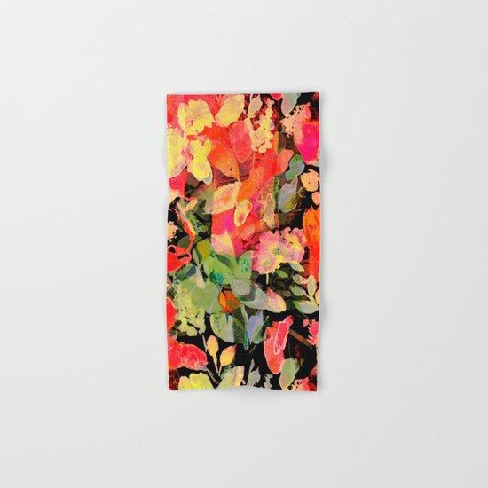 vivid abstract flowers Hand & Bath Towel