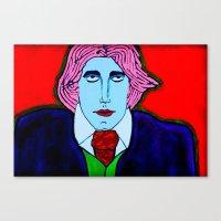 oscar wilde Canvas Prints featuring Oscar Wilde by Pluto00Art / Robin Brennan