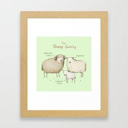 The Sheep Family Framed Art Print