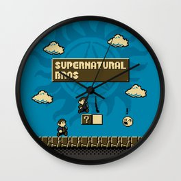 Supernatural Bros. Wall Clock