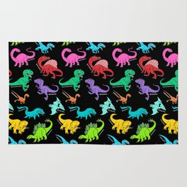 Rainbow dinosaurs Rug