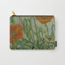 """Vincent Van Gogh """"Butterflies and Poppies"""" Carry-All Pouch"""