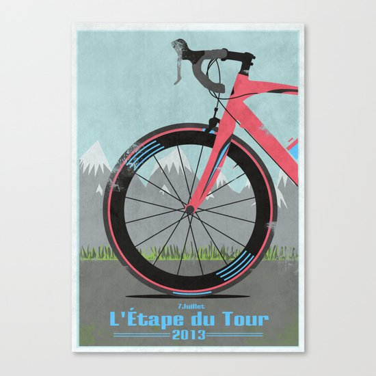 L'Etape du Tour Bike Canvas Print