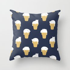 Meowlting Pattern Throw Pillow