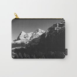Swiss Alps Black and White Carry-All Pouch