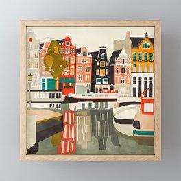 shapes houses of Amsterdam Framed Mini Art Print