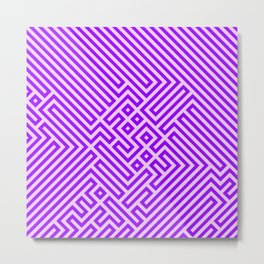 Optical Chaos 03 purple Metal Print