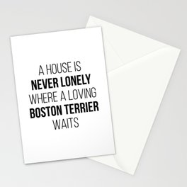 Boston Terrier Dog Cute Quote Stationery Cards