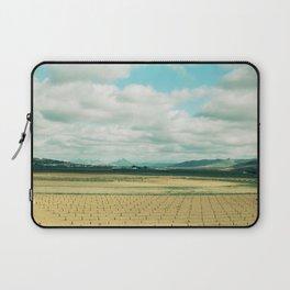 The field | Modern train landscape photography Laptop Sleeve