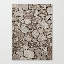 Old Rustic Stone Wall Canvas Print