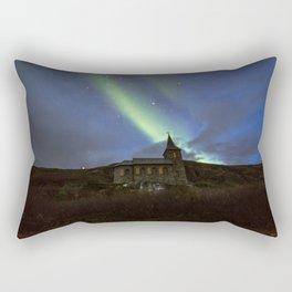 Kong Oscar IIs kapell under aurora sky Rectangular Pillow