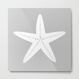Starfish (White & Gray) Metal Print