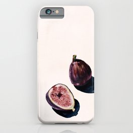 Fruit Still Life Print   Figs Watercolor Aesthetic Painting   Minimal Nudes   Modern Art iPhone Case