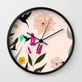 Humingbirds Paradise Wall Clock