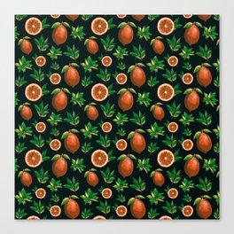 Lemon Love Orange Canvas Print