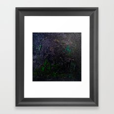 Southern Constellations (Green) Framed Art Print