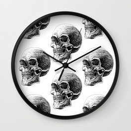 Skull pattern 2 Wall Clock
