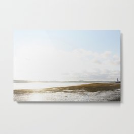 Low Tide at the Lighthouse Metal Print