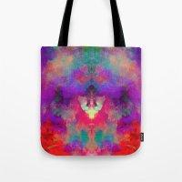 rorschach Tote Bags featuring Rorschach  by Marta Olga Klara