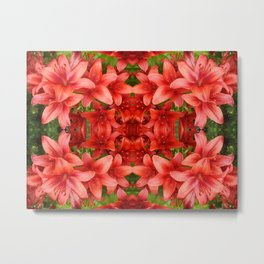 """A Gathering of Lilies"" Remix - 5 (3-1) [D4471~15] Metal Print"