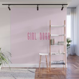 Girl boss power activated Wall Mural